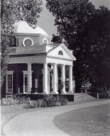 Monticello, West front and portico, ca. 1940s