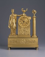 Gilt brass mantle clock