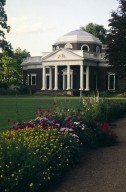 Monticello, West Front, from Winding Flower Walk