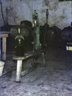 inside the wine making room...