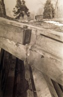 Monticello, Entrance Hall, trussed girder, removed during Grigg restoration