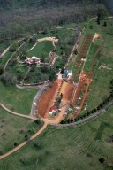 Monticello, East Front, aerial