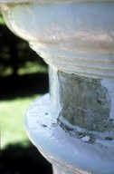 Monticello, column capital showing removed whitewash and paint, detail