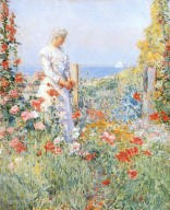 In the Garden by Hassam, Childe