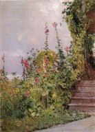 Celia Thaxter's Garden, Appledore, Isles of Shoals by Hassam, Childe