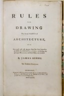 Rules for drawing the several parts of architecture, title page