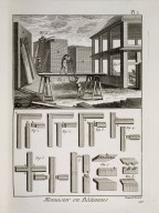 Menuisier en Batimens, Encyclopedie Methodique, Planches, Tom III