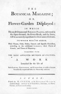 The Botanical Magazine; or Flower-garden displayed. London: Curtis. 1795. Title page