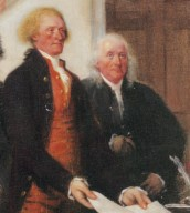 Signing of the Declaration of Independance, detail