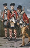 42nd Royal Highland Regiment of foot soldiers
