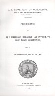 Office of Public Road Inquiries--Bulletin No. 25: Proceedings of the Jefferson Memorial and Interstate Good Roads Convention held at the Charlottesville, VA., April 2, 3, and 4, 1902., title page