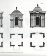 Eight Square Pavillions for my Lord Cobham and others, detail, plate 77