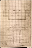 Monticello, greenhouse for Mulberry Row, plan detail