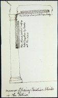 "Monticello, 'Manner of fixing Venetian blinds in the porticos"", sketch"