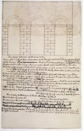Monticello, notebook for remodeling, partition between Hall and Entry