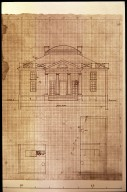 Barboursville, house, plan and elevation, recto, detail
