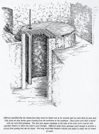 Monticello, Ice house roof, Illustration based on Jefferson's specifications (conjectural)