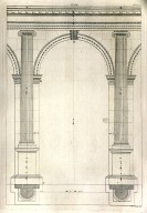 Arch, Ionic order, Book I, plate XVIII