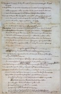 """original Rough draught"" of the Declaration of Independence, page 2 (flap up)"