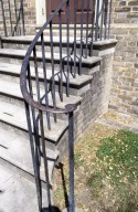 Colonial Williamsburg, exterior, stairs