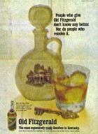 """Advertisement for """"Old Fitzgerald: The most expensively made bourbon in Kentucky"""""""