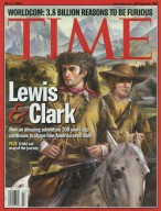 """Lewis and Clark,"" Time magazine, 2002, cover"