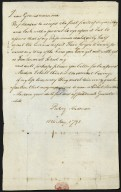Betsey Anderson to Lucy Meriwether Lewis Marks, 18 May, 1798, recto