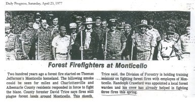 Forest Firefighters at Monticello