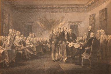 The Signing of the Declaration of Independence of the United States of America, 1776