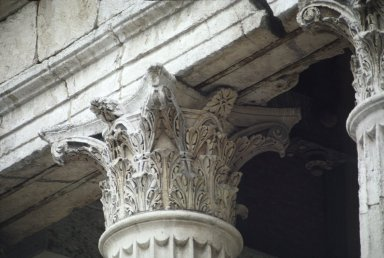 Temple of Augustus and Livia, capitol detail, Vienne