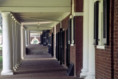 Academical Village, Colonnades and arcade, East Lawn