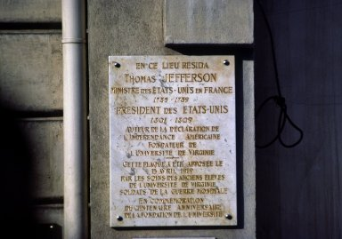 Plaque, Champs Elysees, Paris