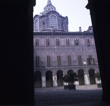 Palazzo Reale Courtyard with Spire of San Lorenzo, Torino