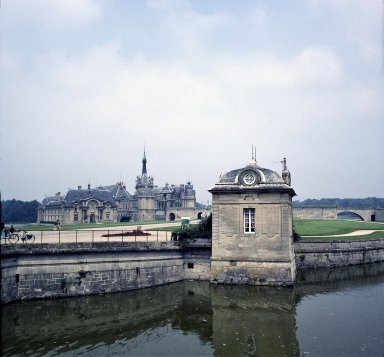 Sentry Box with Château in Background, Chantilly