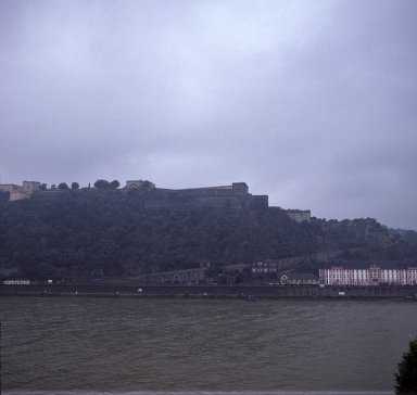 Koblenz, view of Ehrebreitstein fors across Rhein from Deutsches Eck