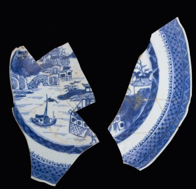 Porcelain plate fragments, MSC536