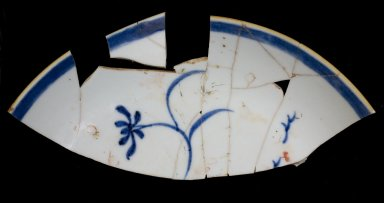 Porcelain bowl fragments, MSC550, partial mend