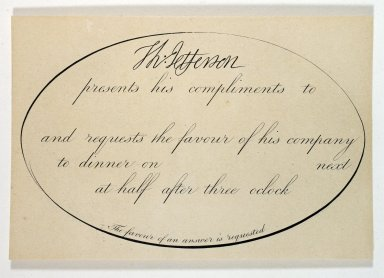 Jefferson's dinner invitation