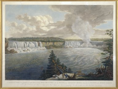 A Distant View of the Falls of Niagara, including Both Branches with the Island, and Adjacent Shores, taken from Athe Vicinity of the Indian Ladder