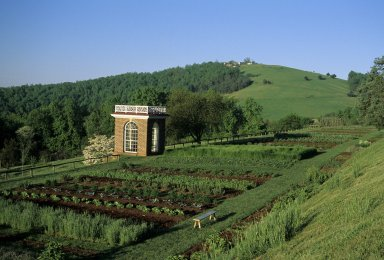 Monticello, garden pavilion, vegetable garden