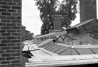 (Monticello, Grigg era restoration of roof)