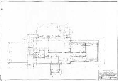 "Monticello, ""Curator's House"", Ground Floor plan (dwg no. 2)"