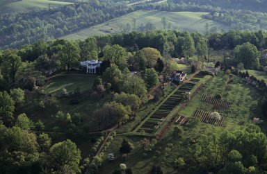 Monticello, West front and vegetable garden