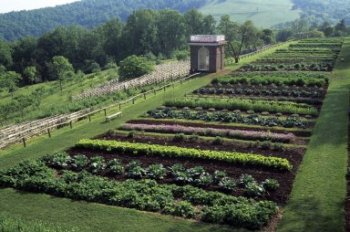 Monticello, Vegetable garden and pavilion