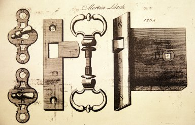 "Birmingham Brass illustration, Mortise latch, lock ""furniture"""