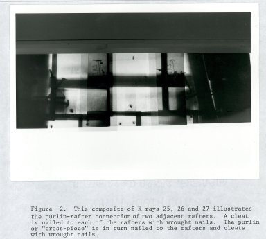 Monticello, Section through dome of skyroom, (over door to the hall), Figure 2 (without cover)