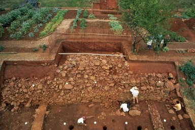Monticello, restoration, Vegetable Garden wall