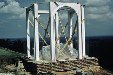 Monticello, Restoration, Construction of Vegetable Garden Pavilion