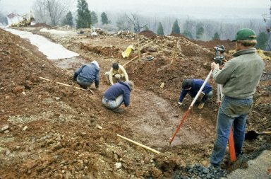 Monticello, Archaeology, excavation of Mulberry Row