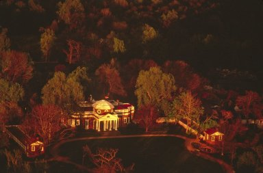Monticello, House and Dependencies, aerial